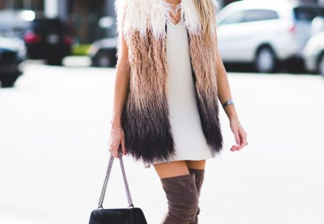 Fur Vests and Slip Dresses