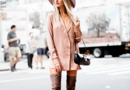 Over the Knee Boots and the Shirt Dress