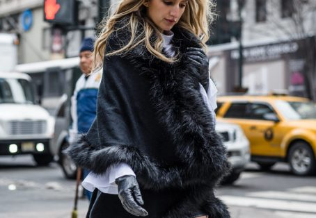 New York Fashion Week Look: Fishnets and Fur