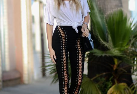 How to style Lace Up Pants